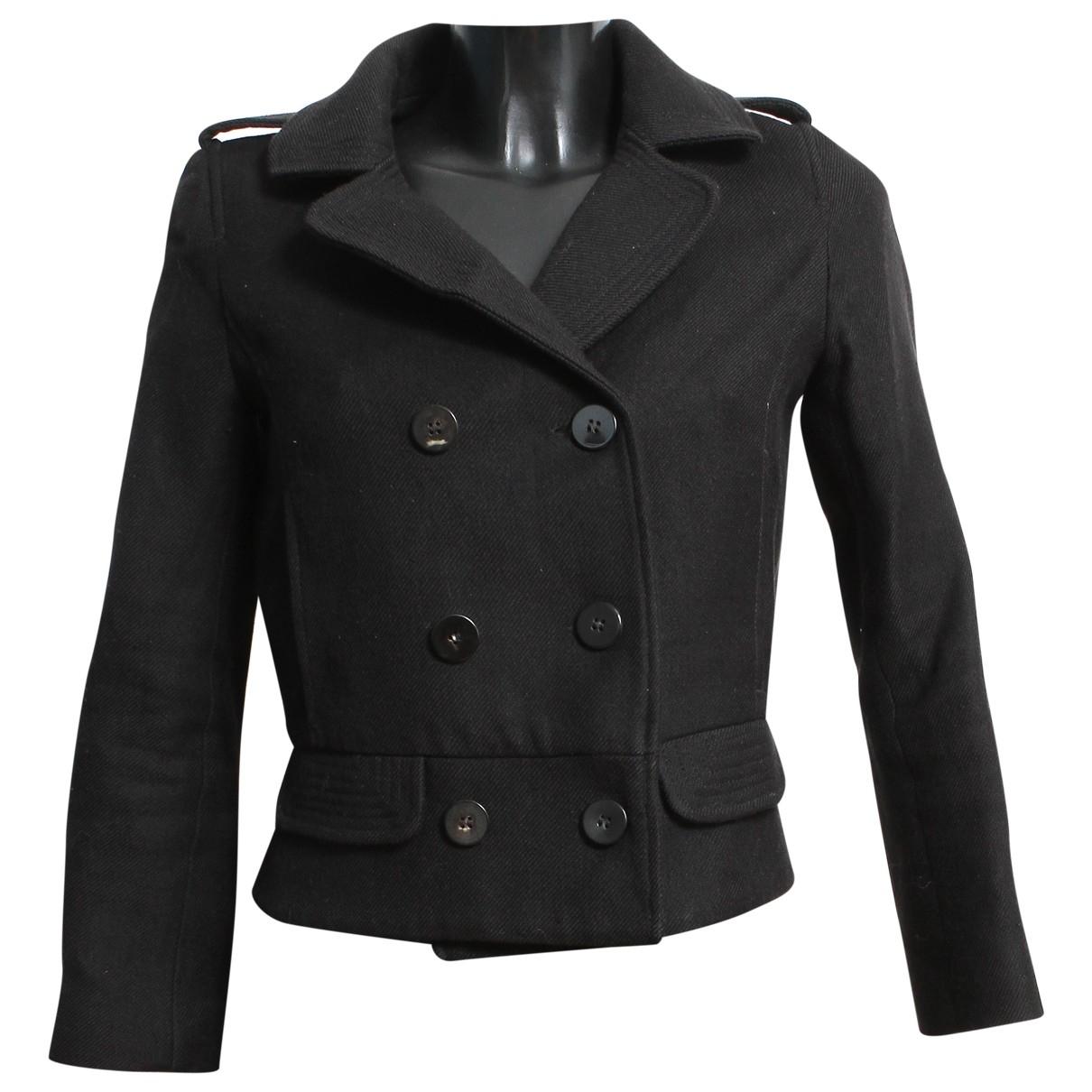 Sandro \N Black Cotton jacket for Women 38 FR