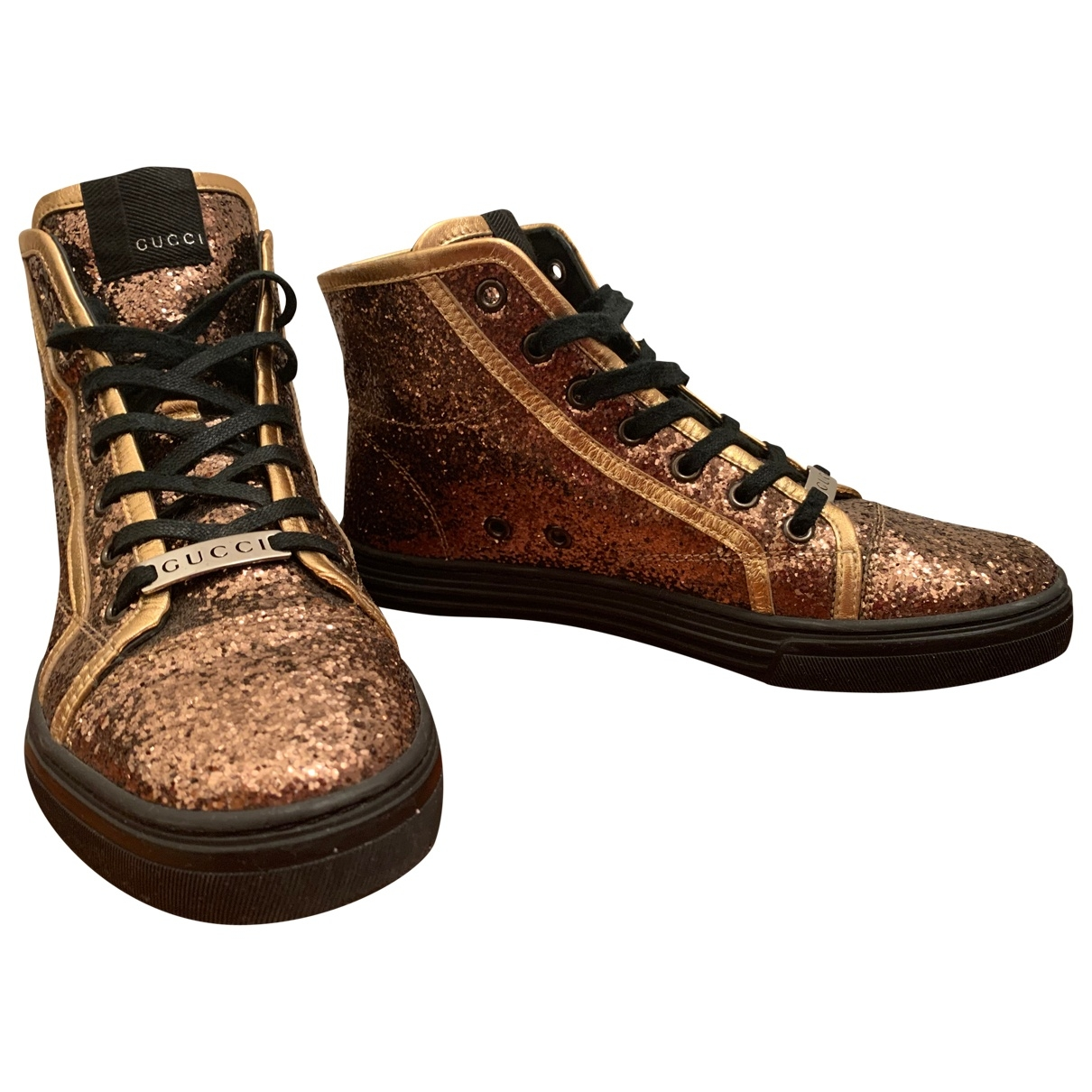 Gucci \N Gold Leather Trainers for Women 38 EU