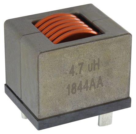 Vishay 10 μH ±20% Iron Powder Leaded Inductor, Max SRF:8 (Typ.)MHz, 30 (Typ.)A Idc, 2mΩ Rdc, IHDM-1008BC-30 (90)