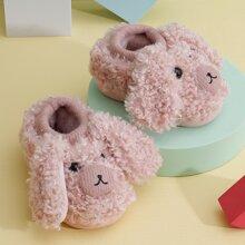 Toddler Girls Cartoon Design Fluffy Slippers