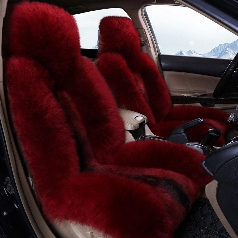 Winter Warm Super Soft Wolf Hair Comfortable Car Seat Cover