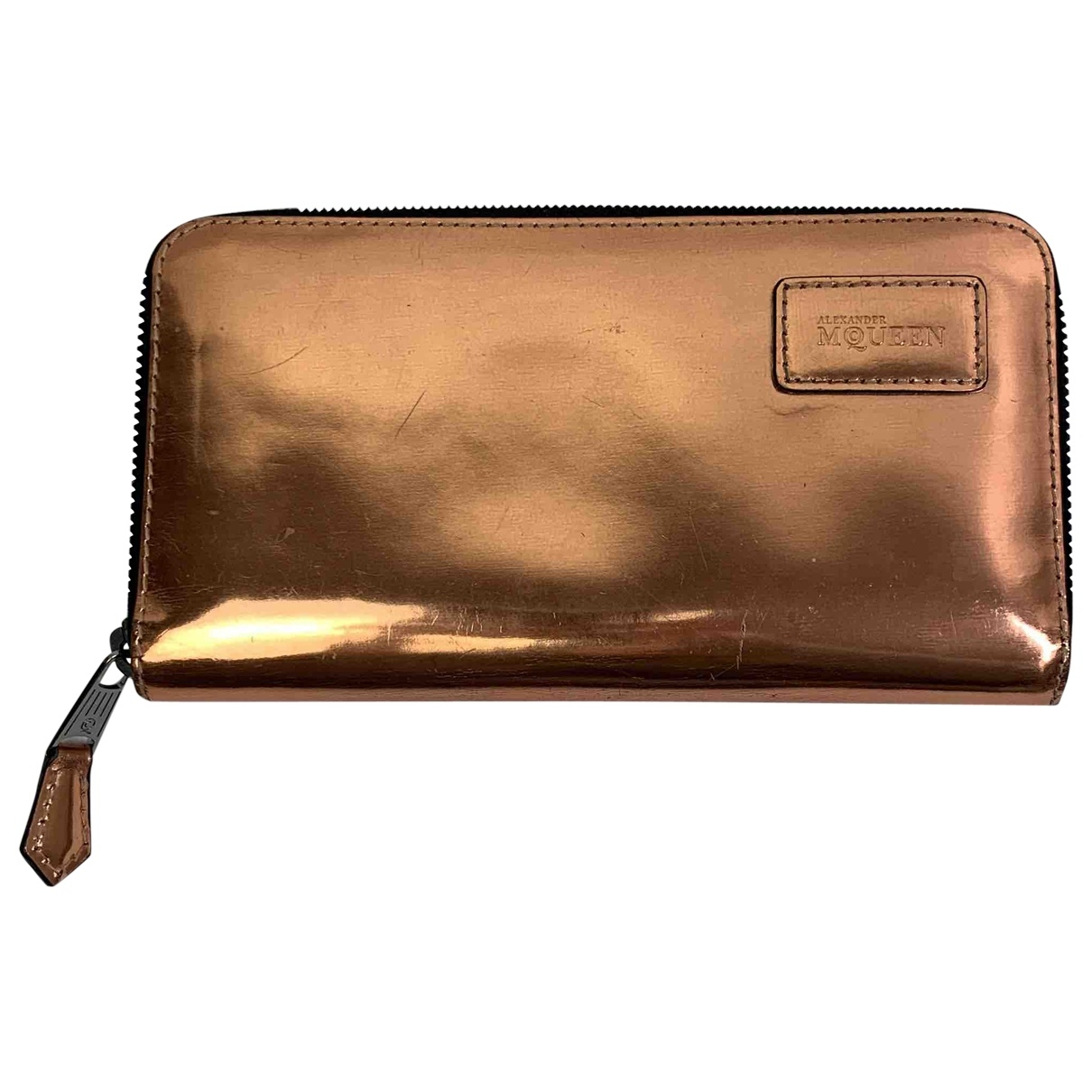 Alexander Mcqueen \N Metallic Patent leather wallet for Women \N