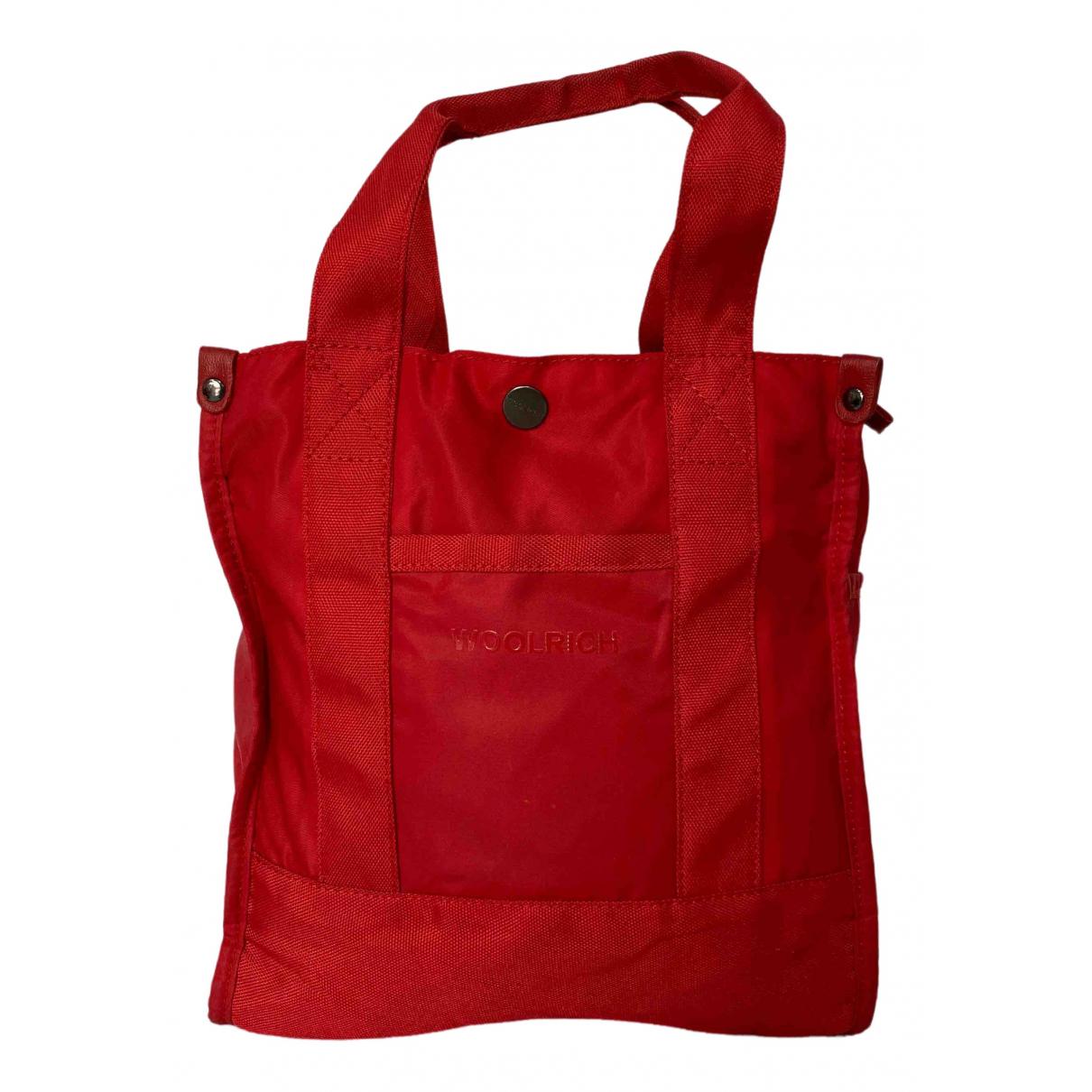Woolrich - Sac   pour femme en toile - rouge