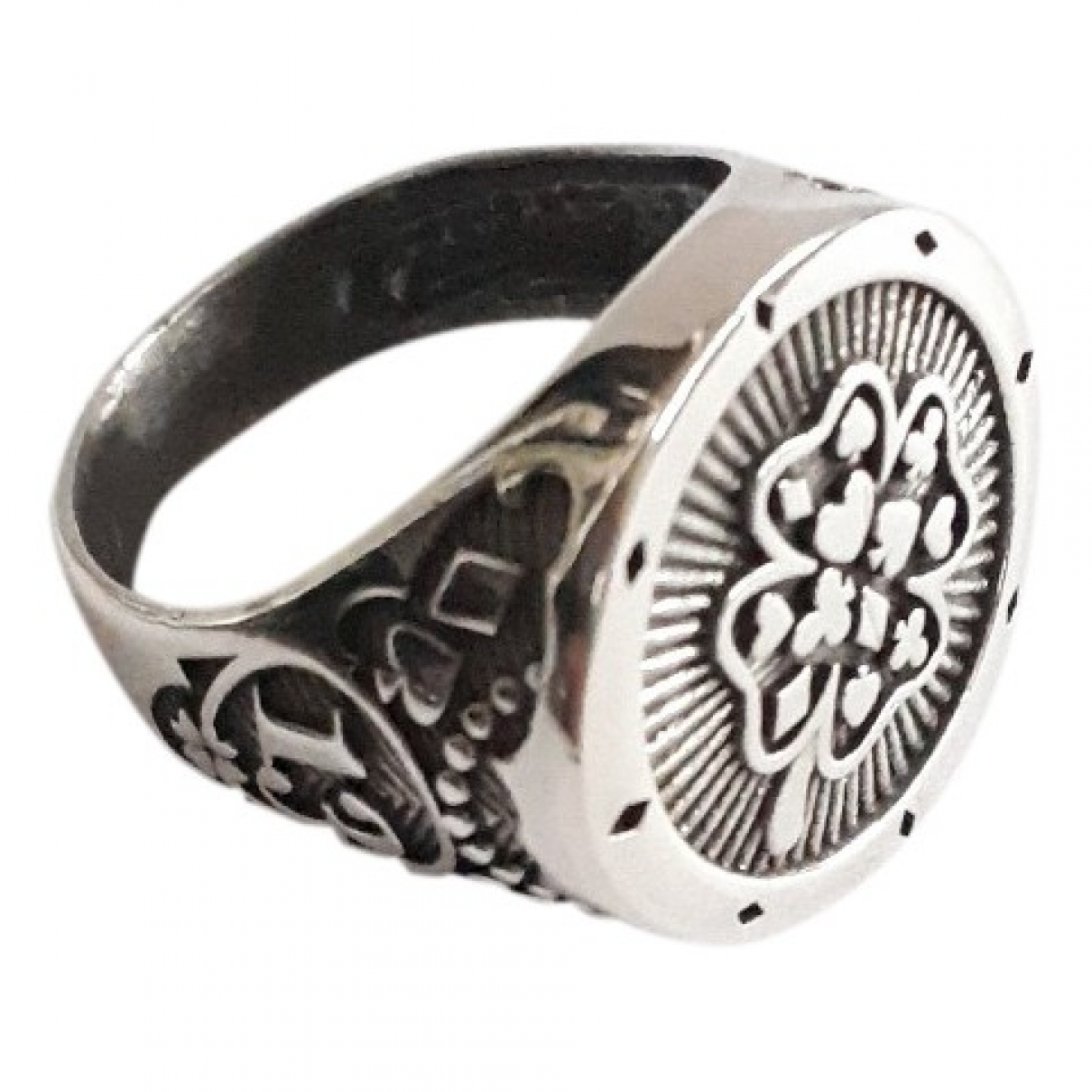 Non Signe / Unsigned Chevalieres Ring in  Silber Silber