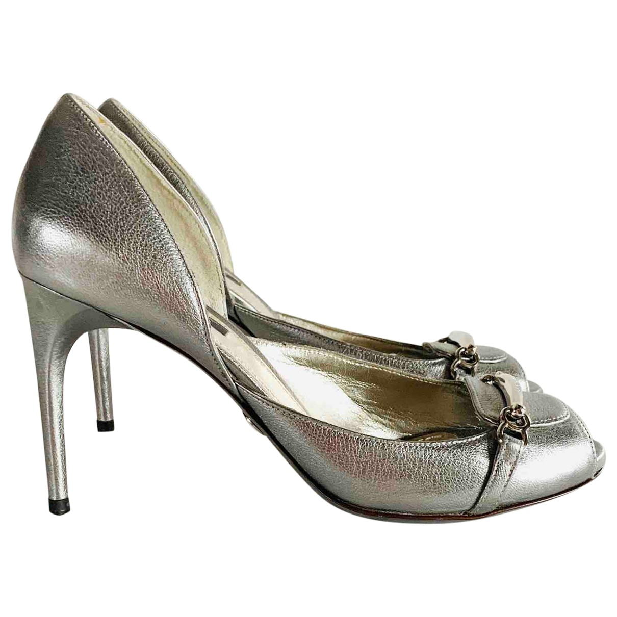 Dolce & Gabbana \N Silver Leather Sandals for Women 38 EU