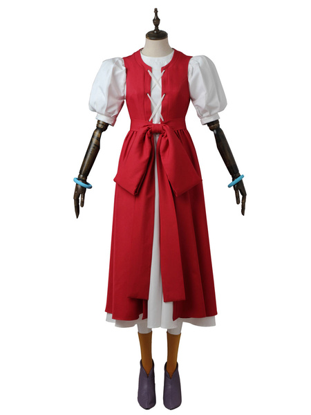 Milanoo Dragon Quest Cosplay Costumes Red Veronic Japanese Anime Pu Leather Outfit