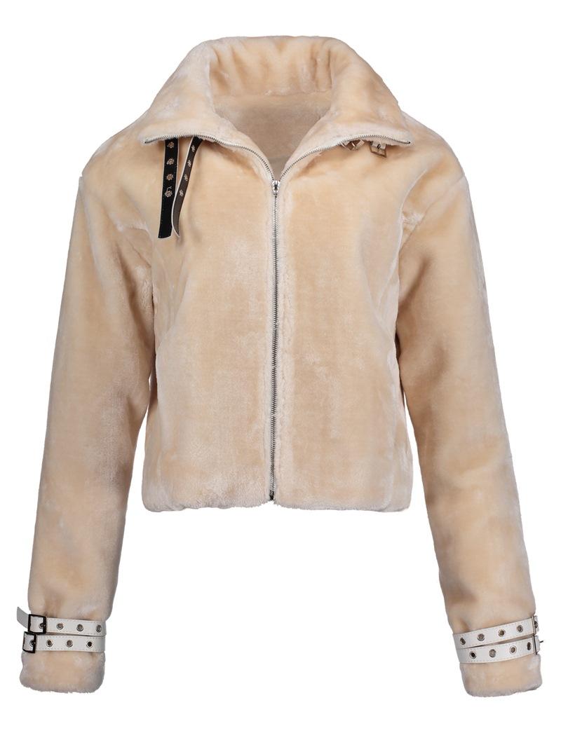 Ericdress Slim Lapel Plain Zipper Women's Jacket