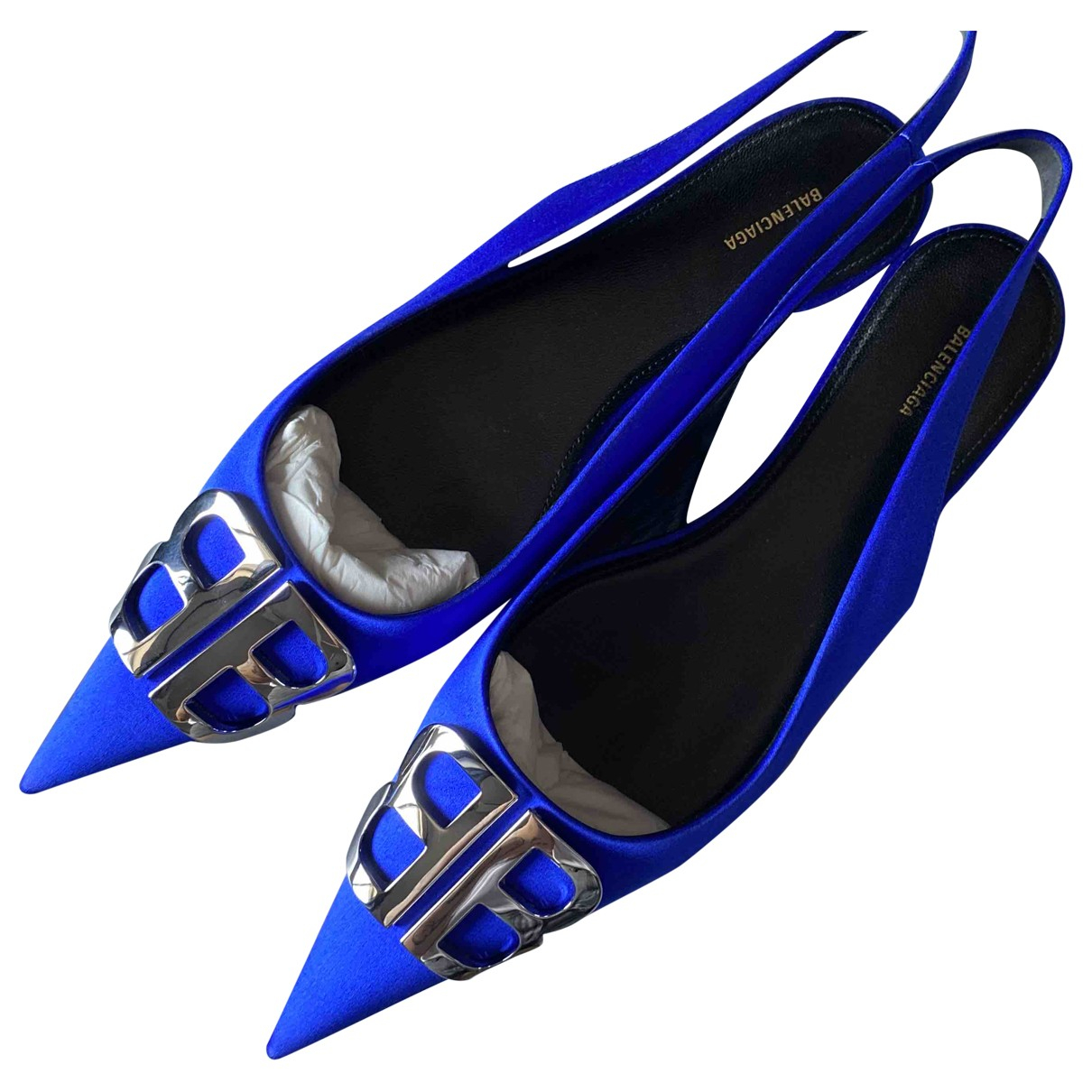 Balenciaga BB Blue Velvet Ballet flats for Women 39 EU