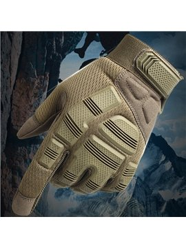 A Pair Breathable Motorcycle Gloves Camouflage Pattern Shield Fall-Proof All-Finger Gloves Cycling Gloves Outdoor Sports Gloves