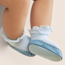 Baby Rutschfeste Socken mit Rueschenbesatz