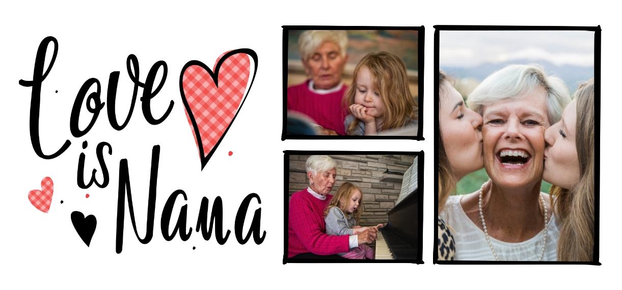 Family + Friends 11 oz. Light Blue Accent Mug, Gift -Family Love