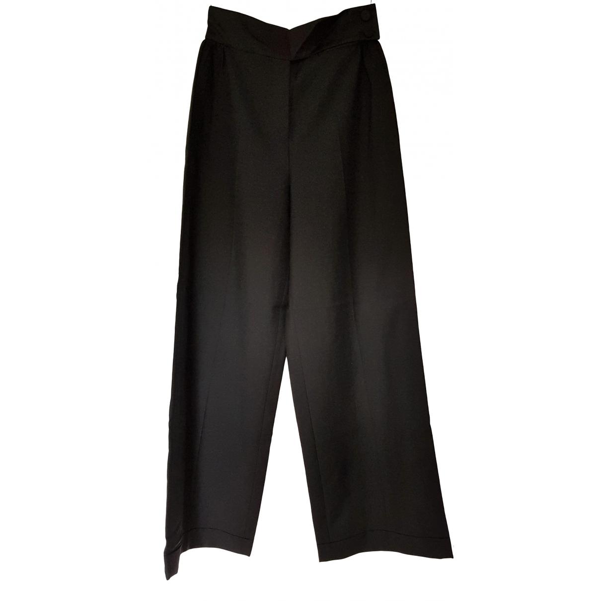 Louis Vuitton \N Black Cotton Trousers for Women 40 FR