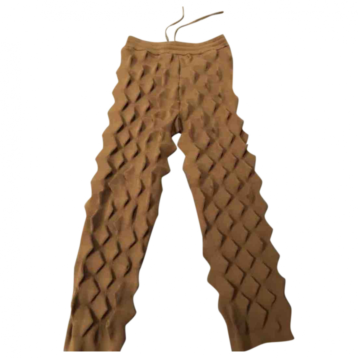 Kenzo \N Brown Cotton Trousers for Women 36 FR