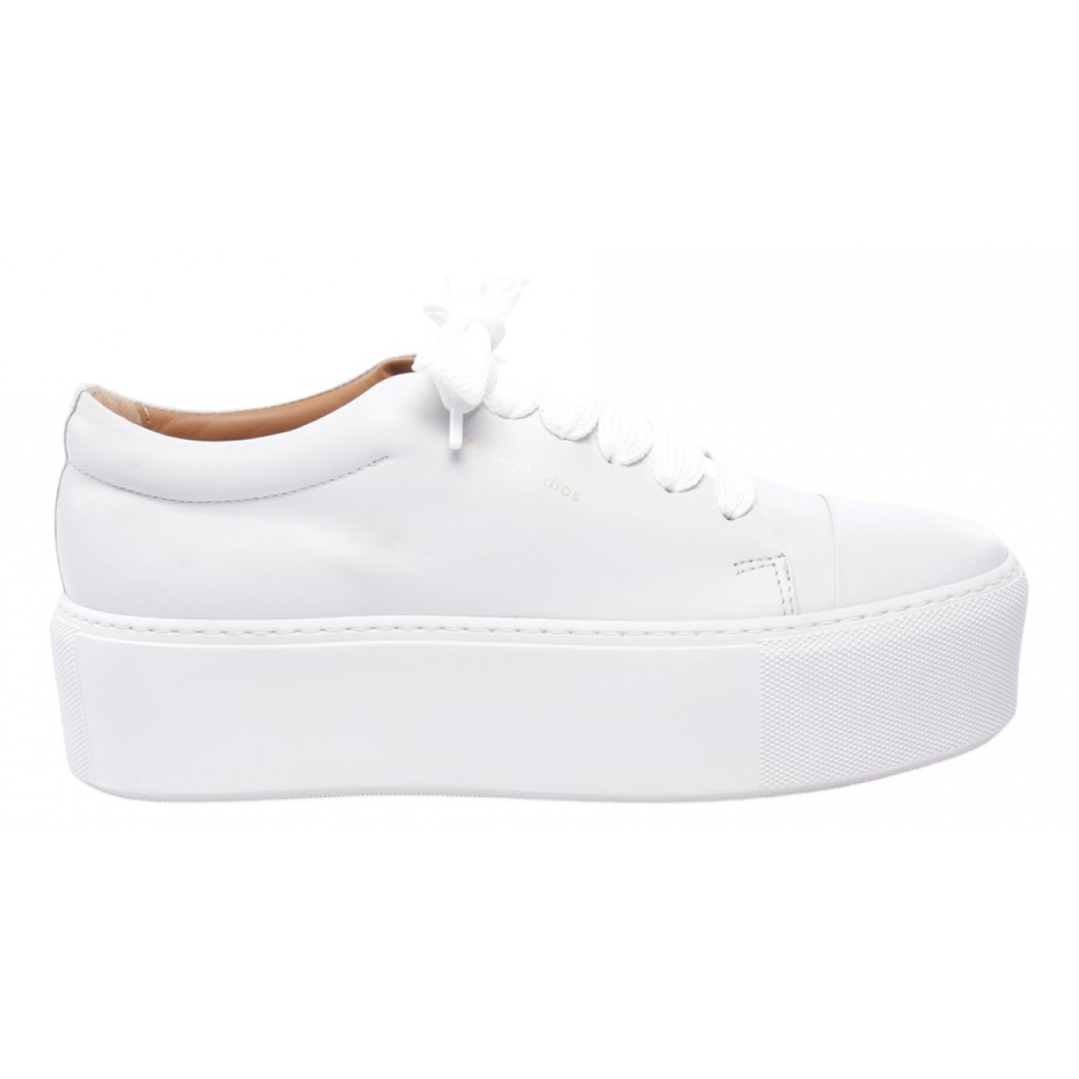 Acne Studios \N White Leather Flats for Women 41 EU