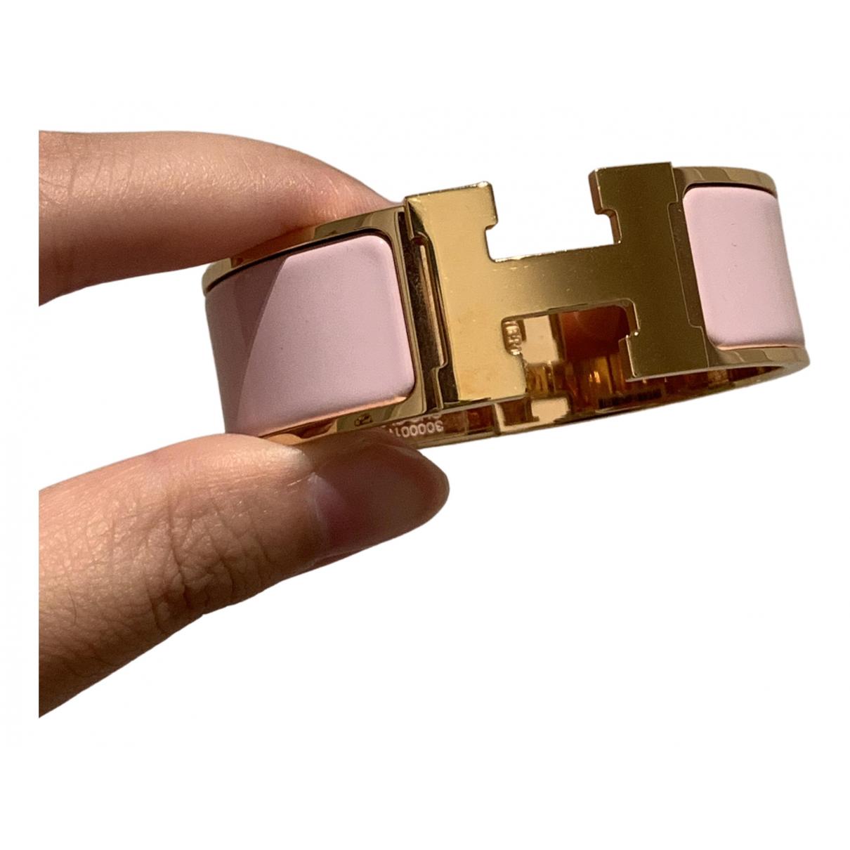 Hermes - Bracelet Clic H pour femme en plaque or - rose