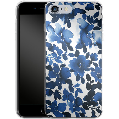 Apple iPhone 6 Plus Silikon Handyhuelle - Sophia Blue Floral von Amy Sia