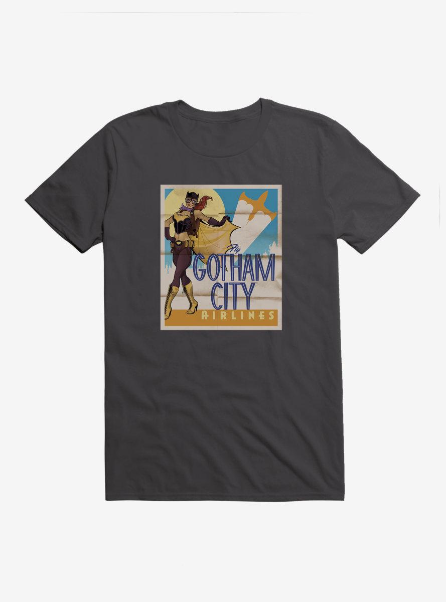 DC Comics Bombshells Batgirl Gotham City Airlines T-Shirt
