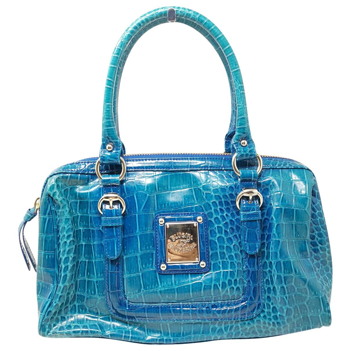Blumarine \N Turquoise Patent leather handbag for Women \N