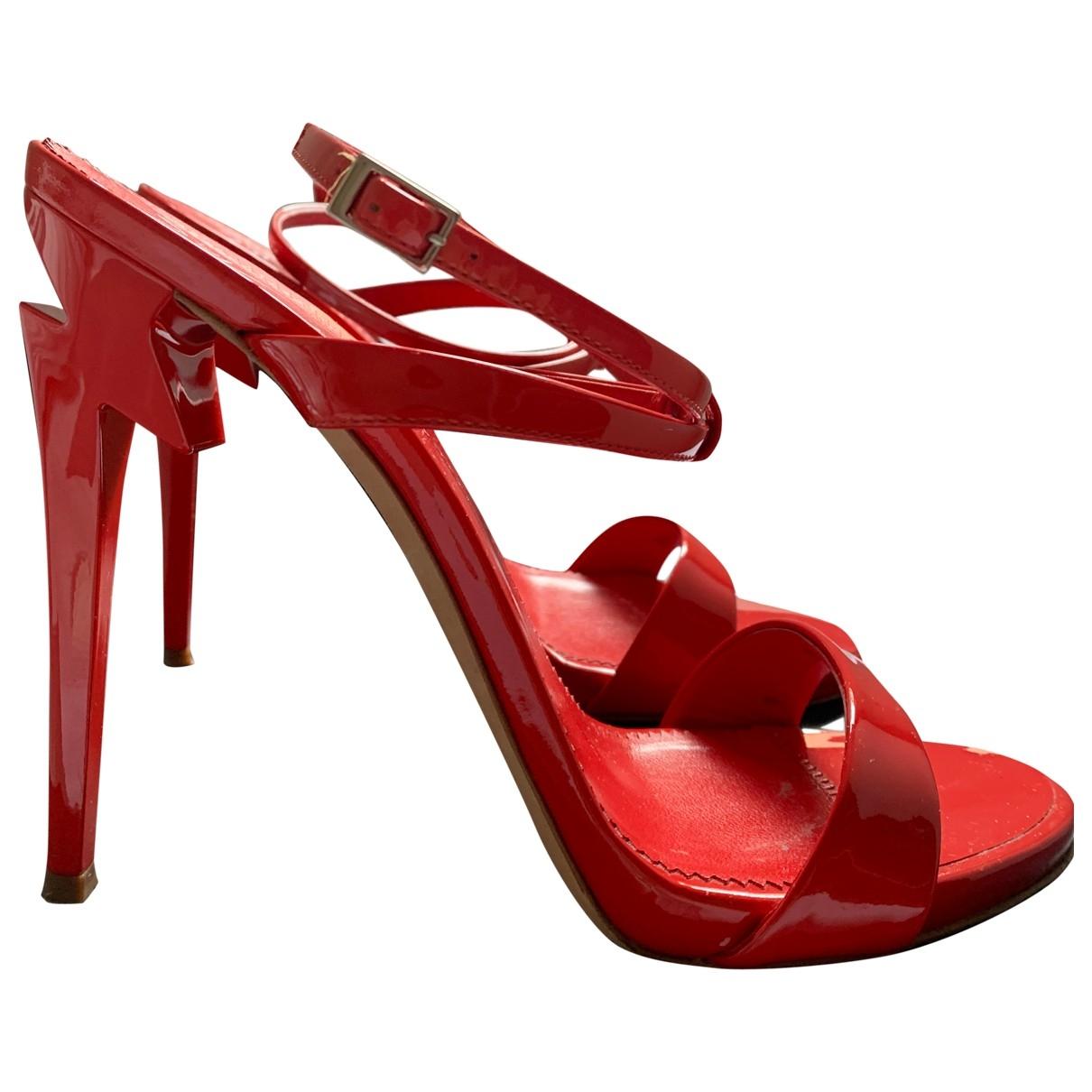Giuseppe Zanotti - Sandales   pour femme en cuir verni - rouge