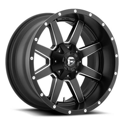 Fuel Offroad Maverick D538 Wheel, 22x9.5 with 6 on 135 / 6 on 5.5 Bolt Pattern - Black / Milled - D53822959860