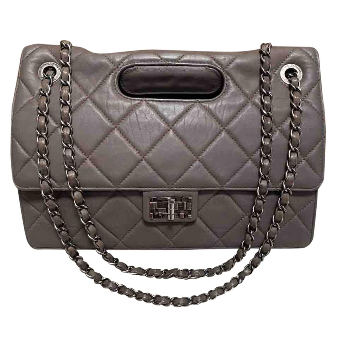Chanel 2.55 Grey Leather handbag for Women N
