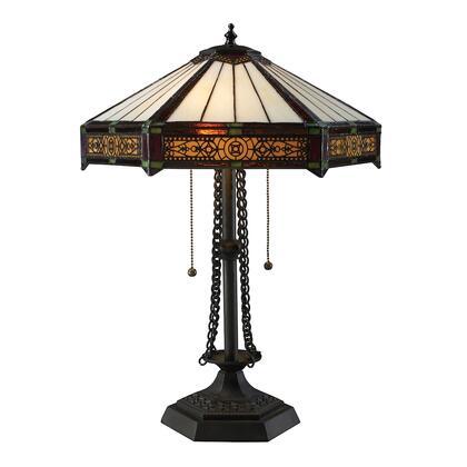 D1852 Filigree Tiffany 2-Light Table Lamp  In Tiffany