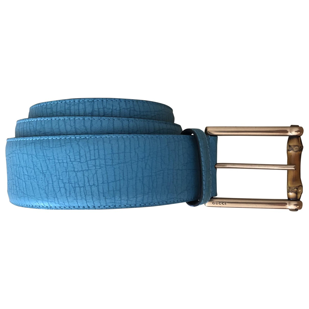 Gucci \N Turquoise Leather belt for Women 90 cm