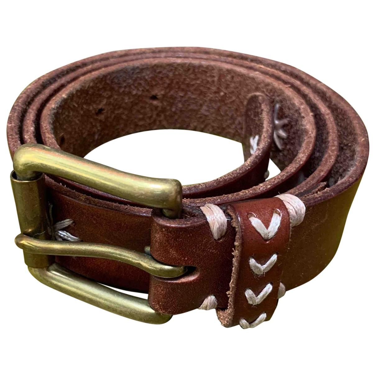 Comptoir Des Cotonniers N Brown Leather belt for Women S International
