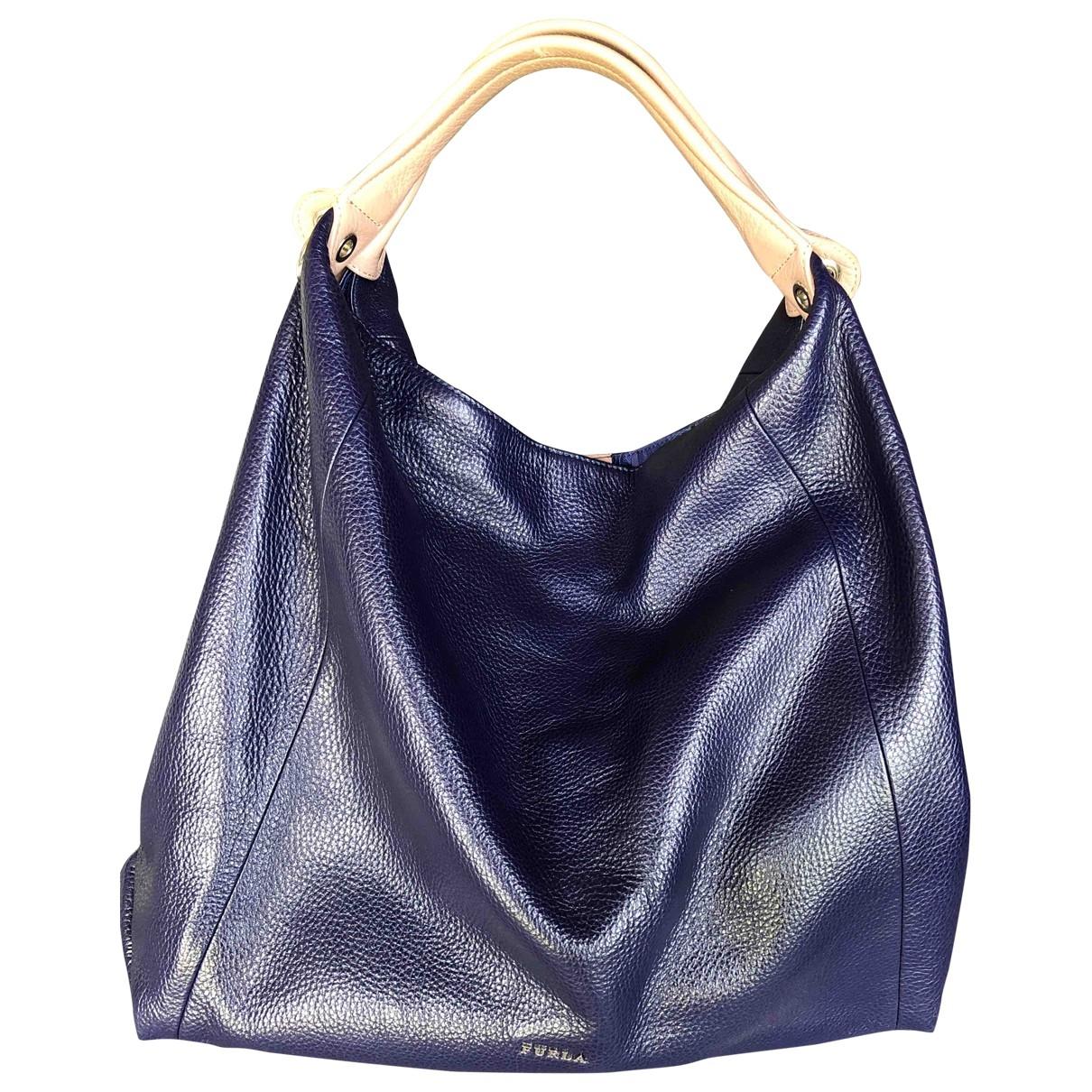 Furla \N Handtasche in  Blau Leder