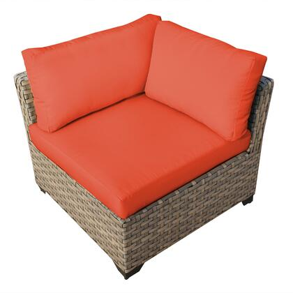 TKC015b-CS-TANGERINE Monterey Corner Sofa with 2 Covers: Beige and