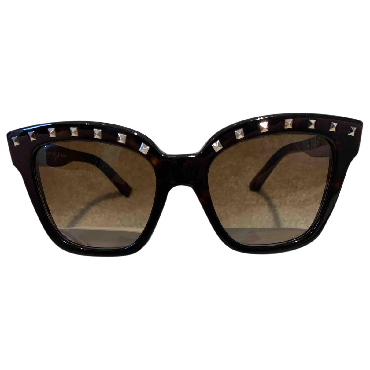 Valentino Garavani \N Brown Sunglasses for Women \N