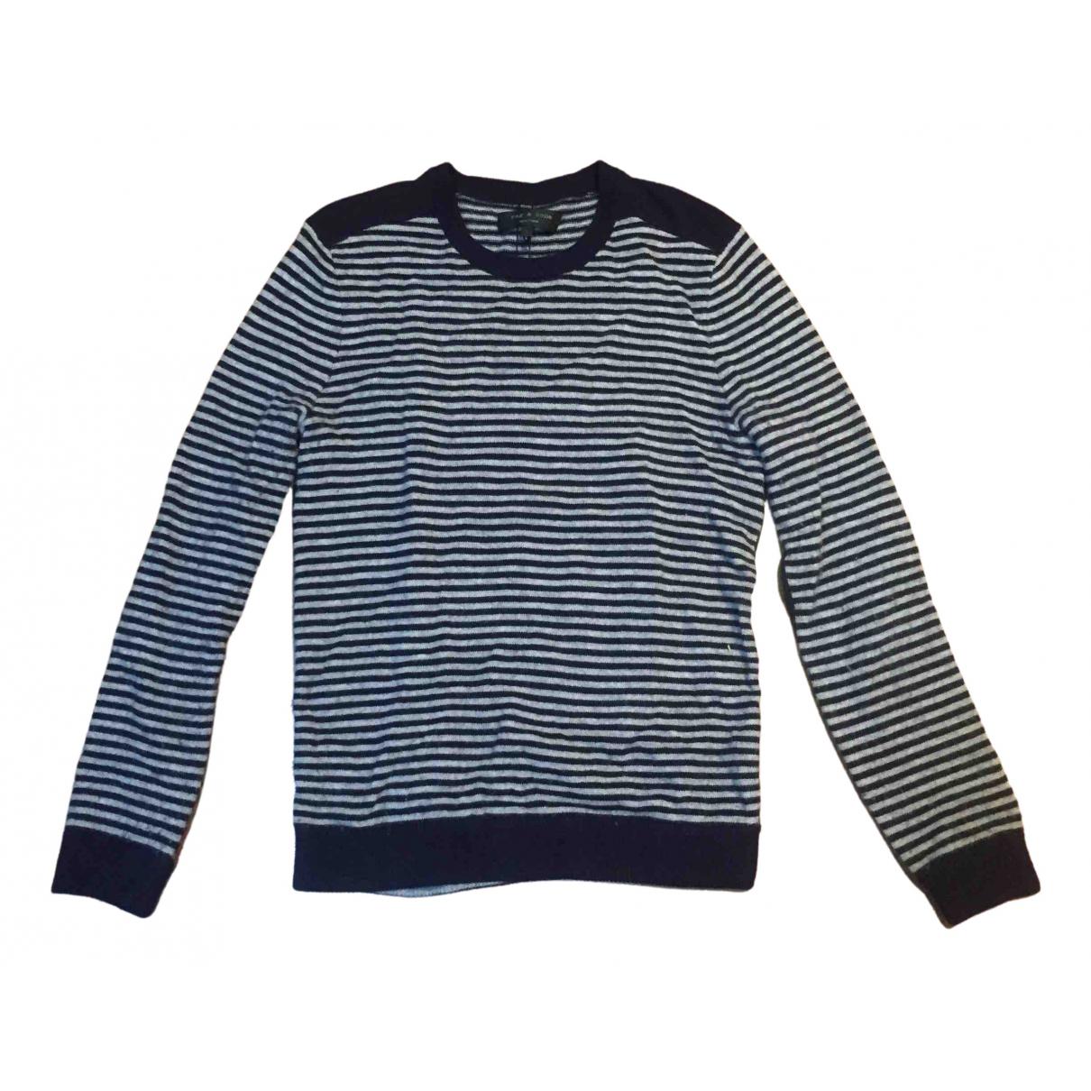 Rag & Bone \N Pullover.Westen.Sweatshirts  in  Grau Wolle