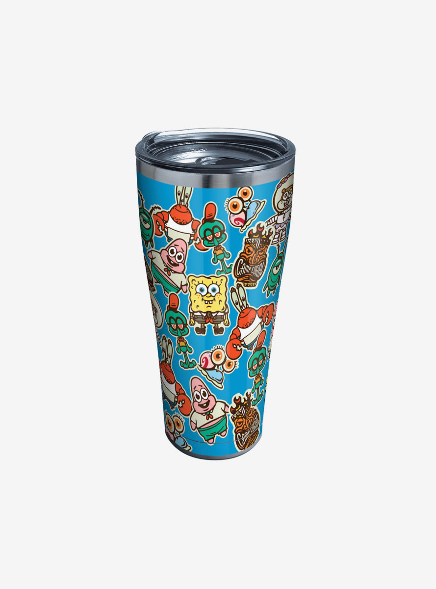 Spongebob Squarepants 30oz Stainless Steel Tumbler With Lid