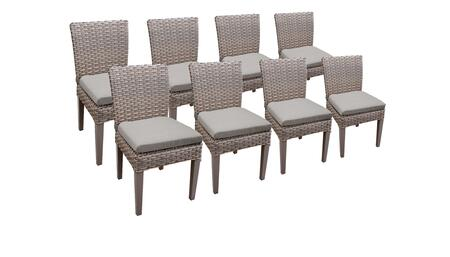 Florence Collection FLORENCE-TKC290b-ADC-4x-C-ASH 8 Side Chairs - Grey and Ash