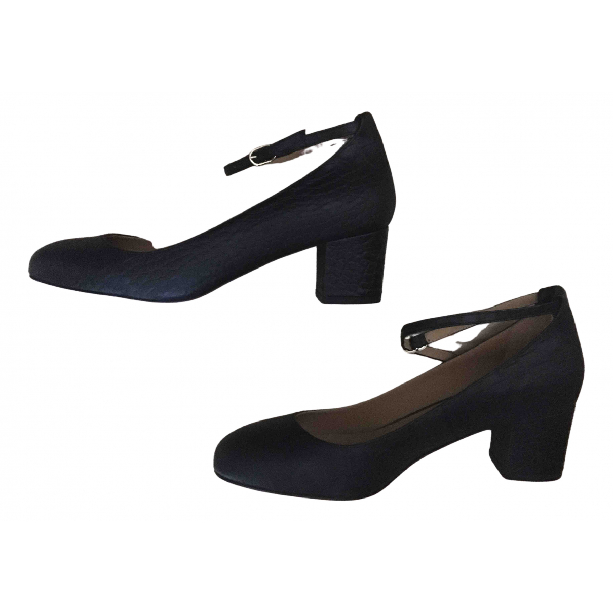 Sézane \N Black Leather Heels for Women 38 EU