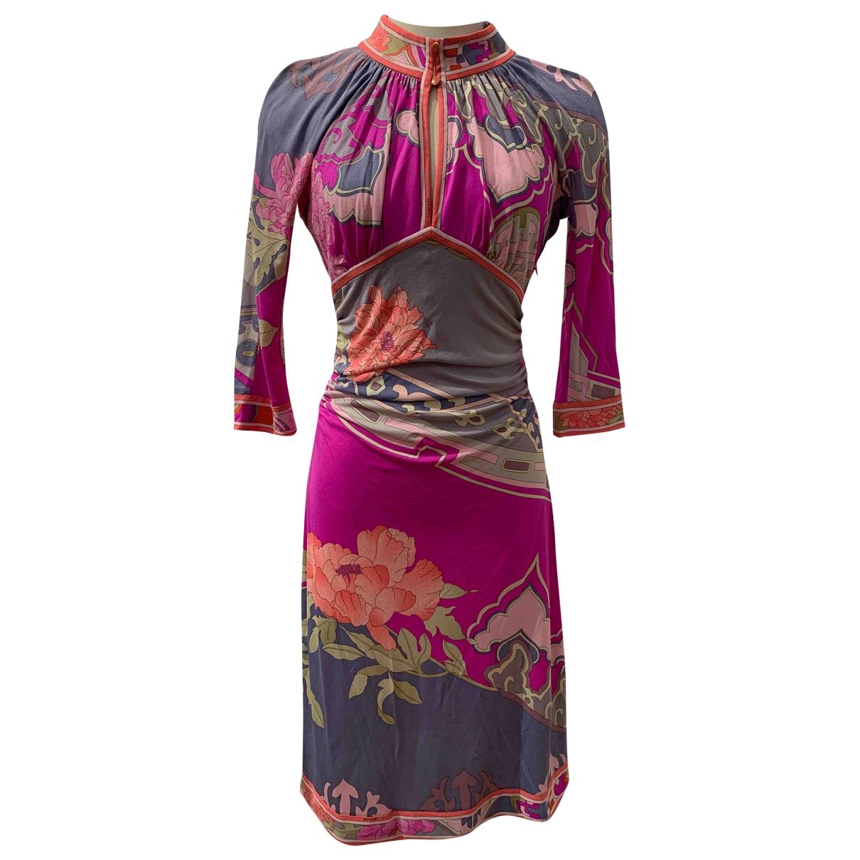 Leonard \N Pink Silk dress for Women 38 FR