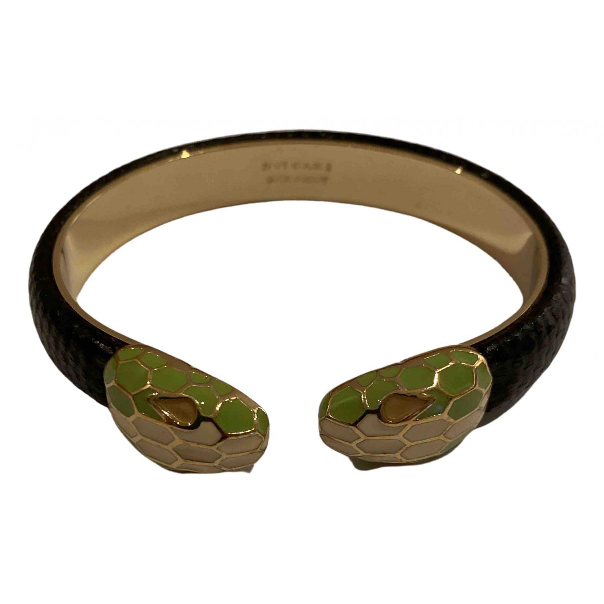 Bvlgari - Bracelet Serpenti pour femme en galuchat - noir