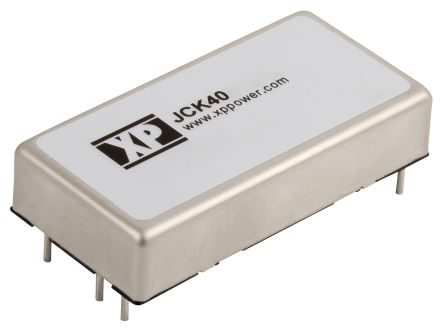 XP Power JCK 40W Isolated DC-DC Converter Through Hole, Voltage in 18 → 36 V dc, Voltage out ±15V dc