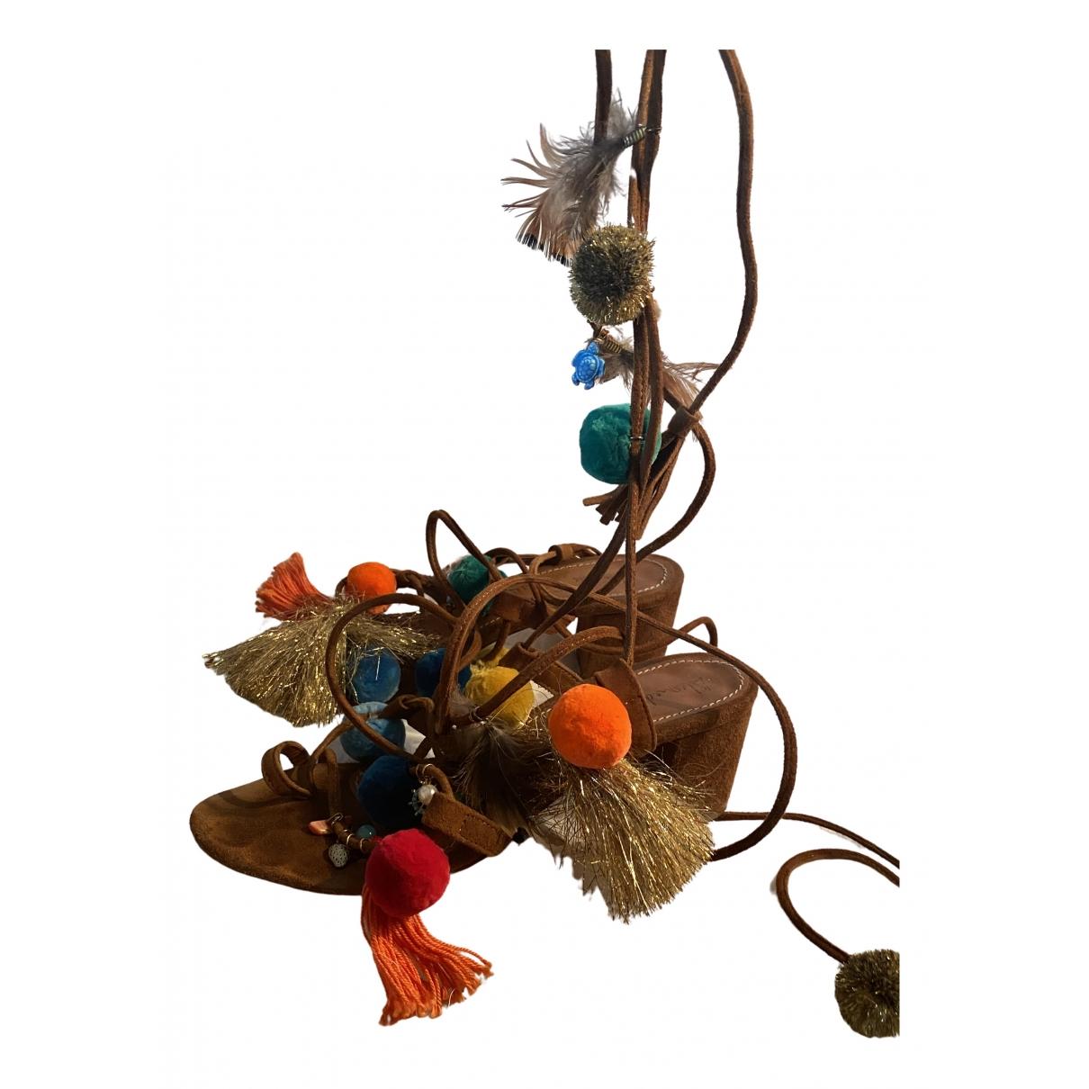 Alameda Turquesa \N Multicolour Suede Sandals for Women 38 EU