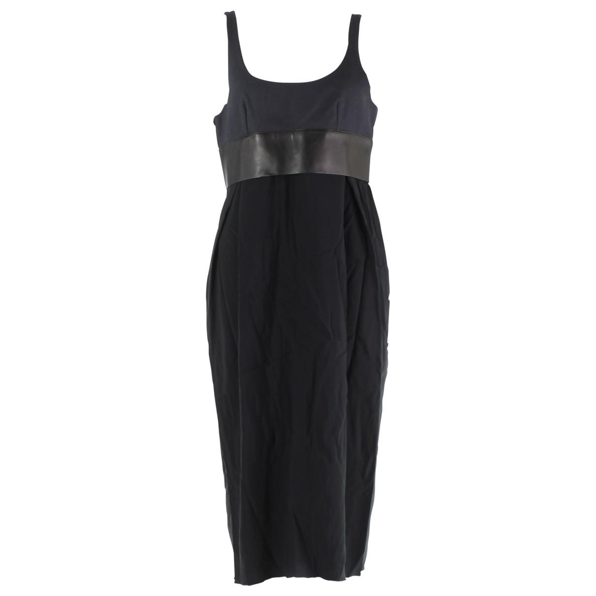 Celine \N Kleid in  Marine Baumwolle