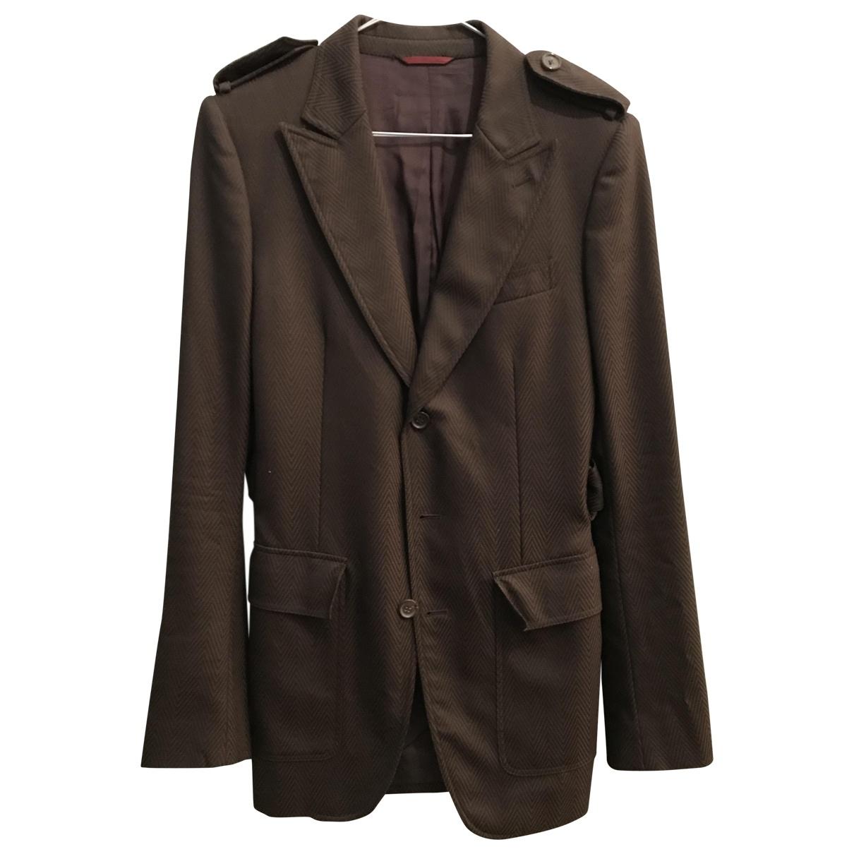 Burberry - Vestes.Blousons   pour homme en laine - marron