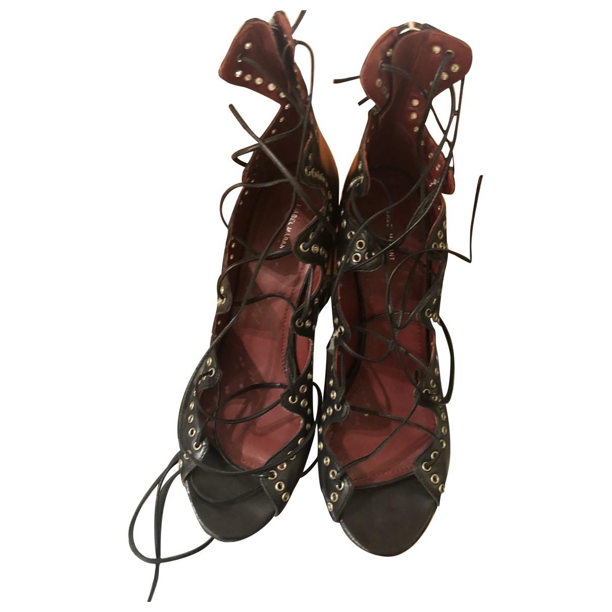 Isabel Marant \N Black Leather Sandals for Women 41 EU