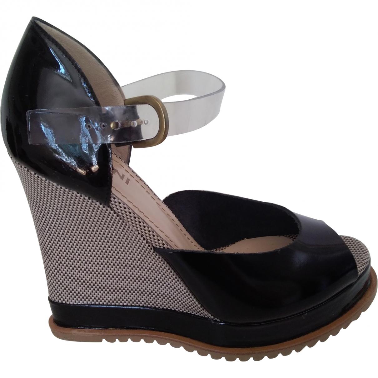 Polder \N Black Leather Heels for Women 37 EU
