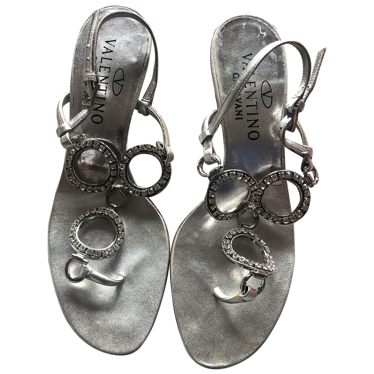 Valentino Garavani \N Metallic Leather Sandals for Women 36 EU