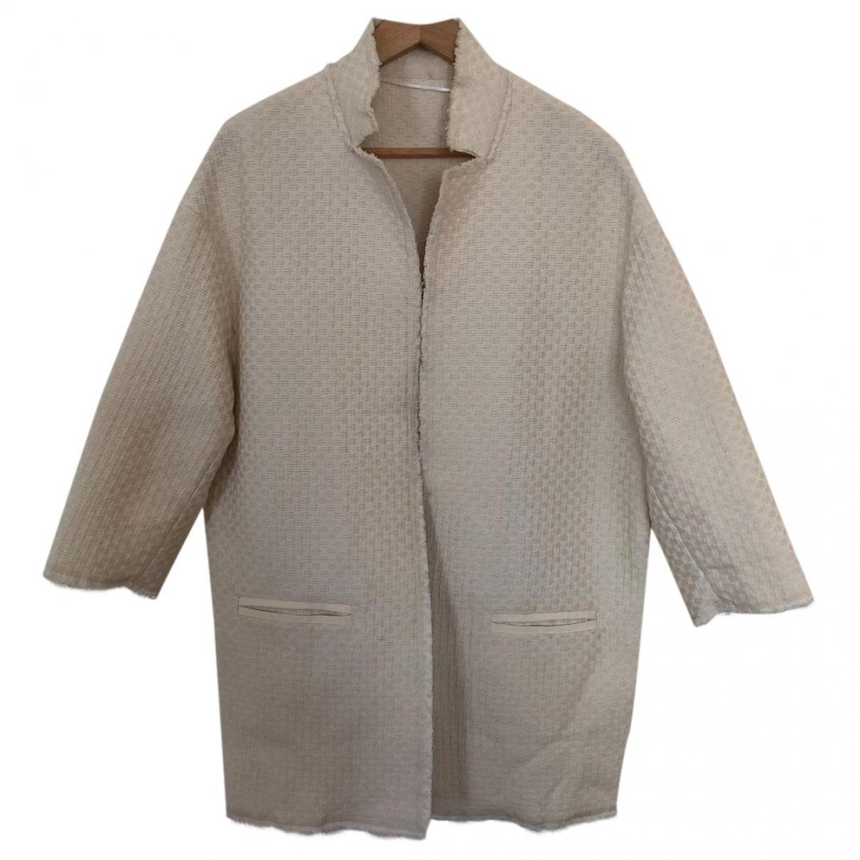 Pinko - Veste   pour femme en coton - blanc