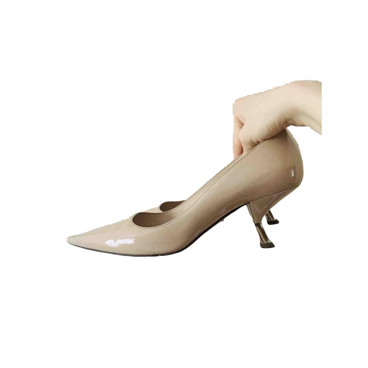 Prada \N Beige Patent leather Heels for Women 39 EU