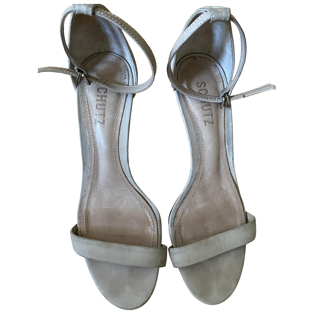 Schutz - Sandales   pour femme en suede - beige