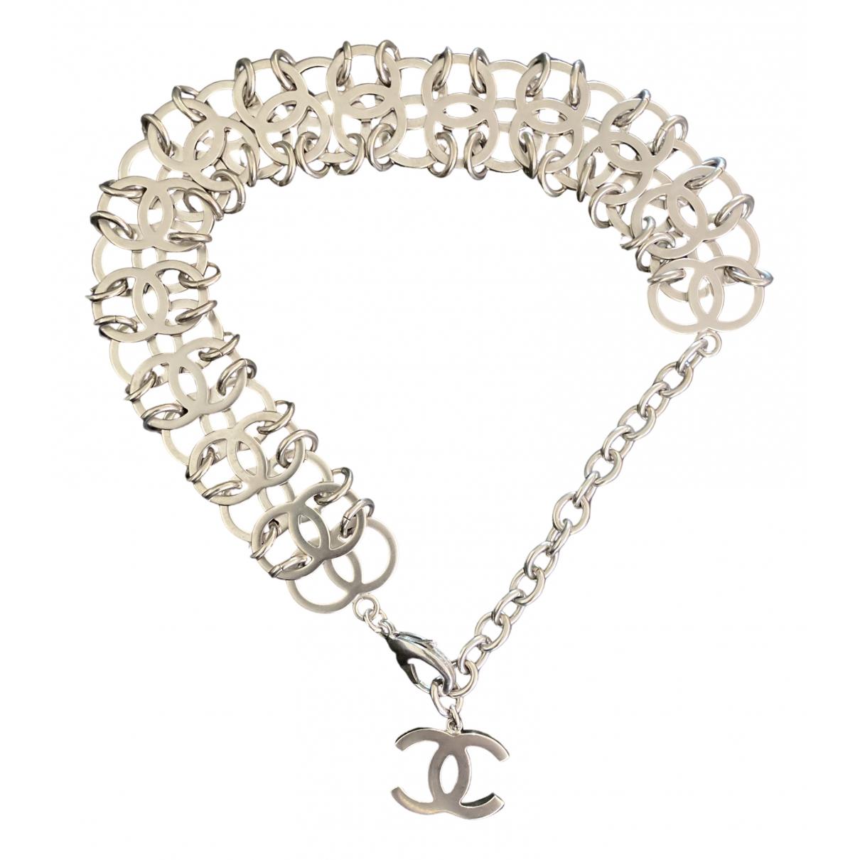 Chanel - Collier CHANEL pour femme en acier - argente