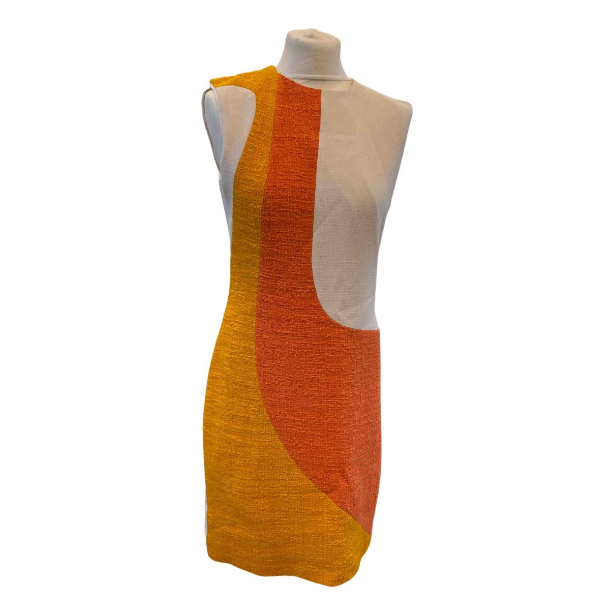 Roksanda Ilincic \N Orange Linen dress for Women 14 UK