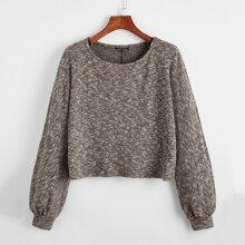 Gerippter Strick Crop Pullover